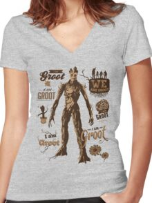 Guess Who I Am Women's Fitted V-Neck T-Shirt
