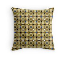 Persian Blocks Desert Throw Pillow
