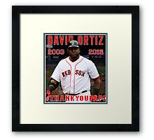Red Sox #THANKYOUPAPI 34 - David Ortiz Framed Print
