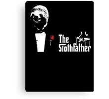 Sloth - The Slothfather godfather parody mashup Canvas Print