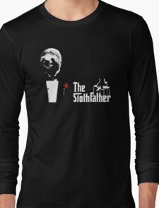 Sloth - The Slothfather godfather parody mashup Long Sleeve T-Shirt