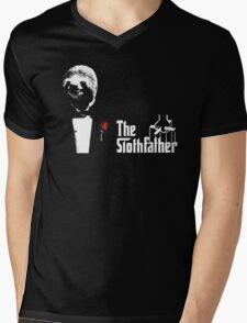 Sloth - The Slothfather godfather parody mashup Mens V-Neck T-Shirt