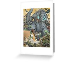KING OF ALL MONSTERS Greeting Card