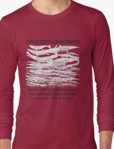 Show your support for the Crocodylomorph Empire Long Sleeve T-Shirt