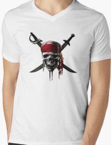 Pirates of the Caribbean Mens V-Neck T-Shirt