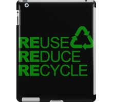 REDUSE REDUCE RECYCLE iPad Case/Skin