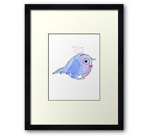 Bow tie Watercolor Bird Framed Print
