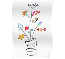 Tin Can Bouquet Poster