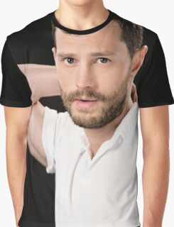 Handsome Jamie Dornan Grey Graphic T-Shirt