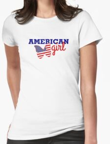 us girl Womens Fitted T-Shirt