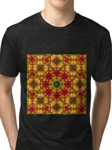 Sunny Bright psychedelic pattern Tri-blend T-Shirt