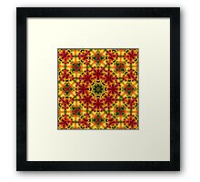Sunny Bright psychedelic pattern Framed Print