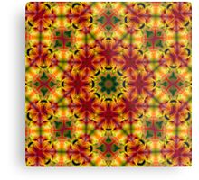 Sunny Bright psychedelic pattern Metal Print