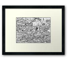 Judge Dredd - Mega City 2 Original Art Reproduction Framed Print