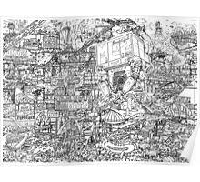 Judge Dredd - Mega City 2 Original Art Reproduction Poster