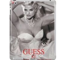 anna nicole smith guess ad gown iPad Case/Skin