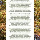 """""""Ode to Autumn"""" by Keats, especially good as a card. by Philip Mitchell"""
