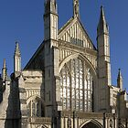 The Great West Window, Winchester Cathedral, southern England by Philip Mitchell