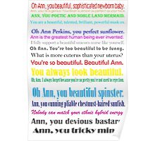 Compliments from Leslie to Ann Poster