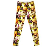 yellow tropics Leggings