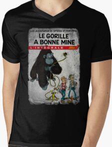 Le Gorille A Bonne Mine Mens V-Neck T-Shirt