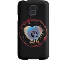 Rise Against Alternate Heart Fist on Black Samsung Galaxy Case/Skin