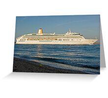 P&O's Aurora leaving Southampton Water, southern England Greeting Card