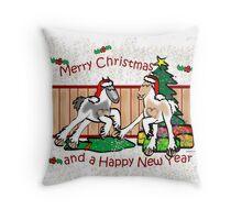 Gypsy Cob Christmas Card 2 Throw Pillow