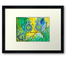 Two Silly Birds Framed Print