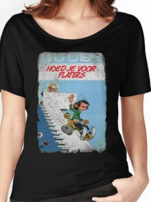 Vintage Style : Hoed Je Voor Flaters Women's Relaxed Fit T-Shirt