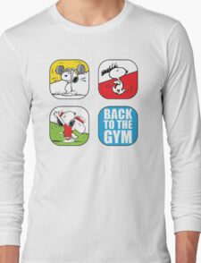 snoopy back to gym Long Sleeve T-Shirt
