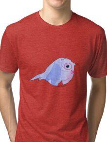 Bow tie Water Colour Bird Tri-blend T-Shirt