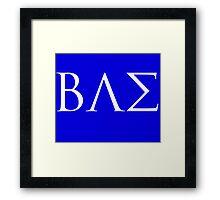 BAE White Logo Framed Print