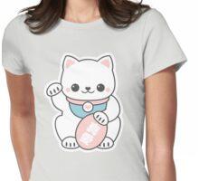 Pink Maneki Neko Womens Fitted T-Shirt