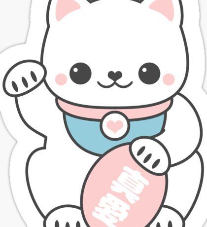 Pink Maneki Neko Sticker