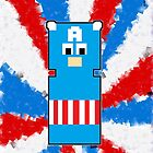 8 Bit Captain America by FandomPeasantry