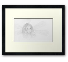 Dragonfly fairy Framed Print
