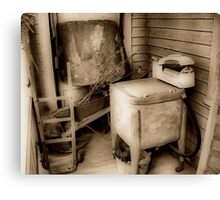 The Old Washing Machine Canvas Print