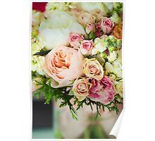 Gentle bouquet. Instagram effect, vintage colors. Poster