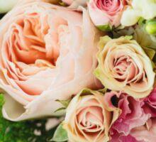 Gentle bouquet. Instagram effect, vintage colors. Sticker