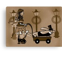 Steam Punk Sausage Dog Canvas Print