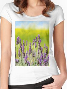 Still Lilac In A Field of Green Women's Fitted Scoop T-Shirt
