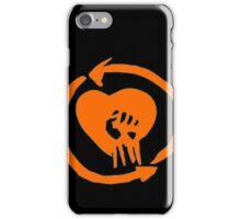 Rise Against Heart Fist Clean Look Orange iPhone Case/Skin