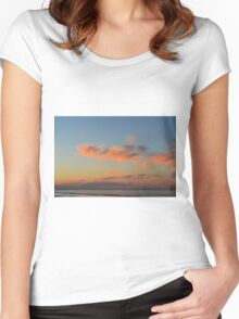 Sunset by the sea in Rimini Women's Fitted Scoop T-Shirt