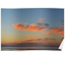 Sunset by the sea in Rimini Poster