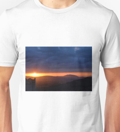 Sunset near the church in Assisi Unisex T-Shirt