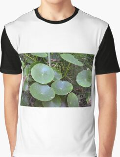 Natural background with waterlily  Graphic T-Shirt