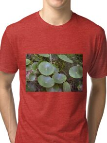 Natural background with waterlily  Tri-blend T-Shirt