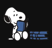 Snoopy reading a book One Piece - Short Sleeve
