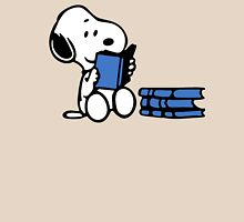 Snoopy reading a book Unisex T-Shirt